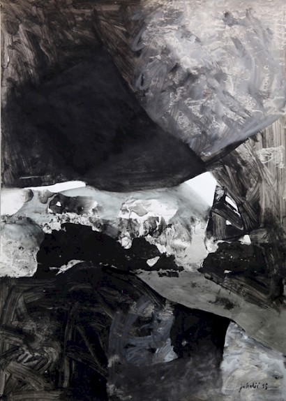 Petar Jakelic, Rocks, mixed-media, 120 x 84 cm, 2015