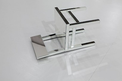 Chair Type I, glass mirror and steel, 44,5 cm x 45 cm x 81 cm, 2010,